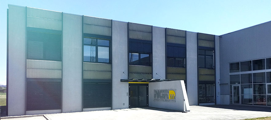 Image of the NGR recycling machines headquarter in Austria